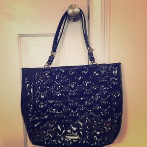 Betsey Johnson black large shoulder tote bag
